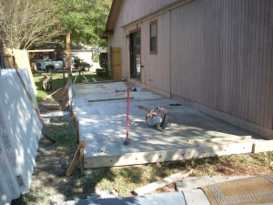 We are adding more slab, for a uniform floor.